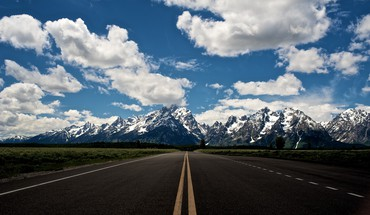 Road to the sky HD wallpaper