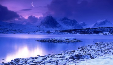 Cold norway lakes dusk HD wallpaper