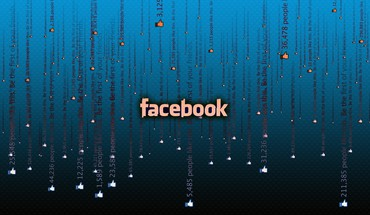 Facebook matrix blue HD wallpaper