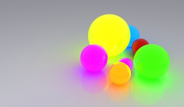 Glow multicolor spheres HD wallpaper