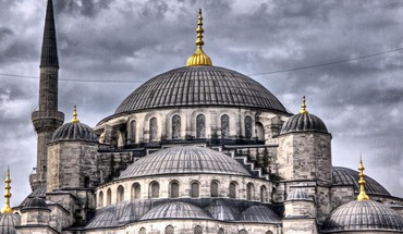 Sultan ahmed mosque in istanbul hdr HD wallpaper