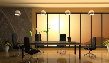 Office interior design HD wallpaper
