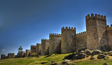 Fortress in avila spain HD wallpaper