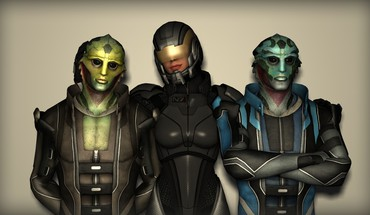 Aliens FemShep mass effect 2 Thane Krios Kreaturen  HD wallpaper