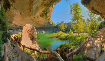 Hamilton Pool texas austin Landschaften Natur  HD wallpaper