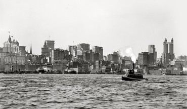 City monochrome historic east river old photography HD wallpaper