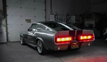 Muscle cars ford shelby taillights garage ameerican HD wallpaper