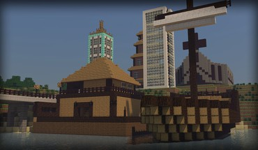 Steve boats church dirt minecraft 2 shipyard HD wallpaper