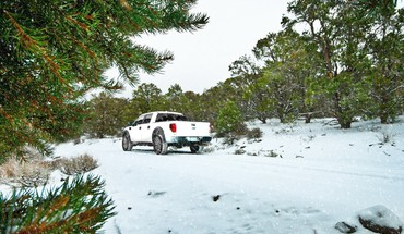 Winter Schnee ford raptor  HD wallpaper