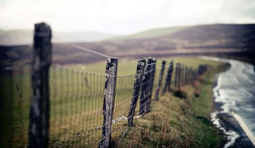 Landscapes fences HD wallpaper