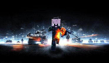 Battlefield 3 minecraft HD wallpaper