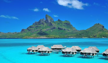 Landscapes nature french polynesia HD wallpaper