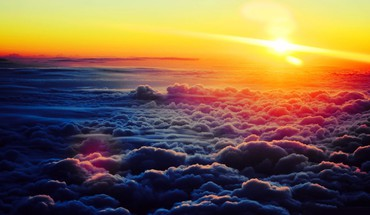 Sunsetabovetheclouds  HD wallpaper