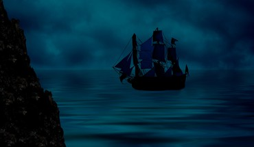 Blue Ship  HD wallpaper