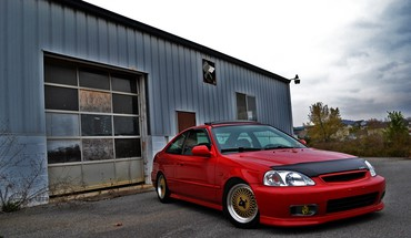 Gold stance civic jdm authentic auto slam HD wallpaper