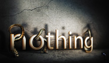 Typography photomanipulation nothing HD wallpaper