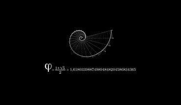 Fibonacci black background mathematics physics HD wallpaper