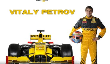 Formulė vienas renault Vitalijus Petrovas white background  HD wallpaper