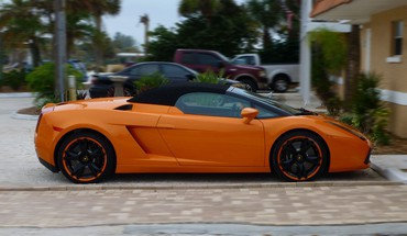 Automobiliai Lamborghini Gallardo Spyder  HD wallpaper