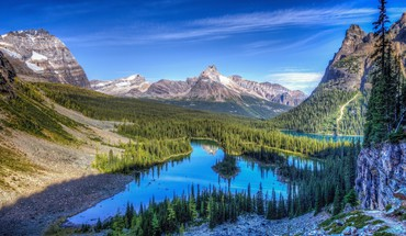 Mountains landscapes nature lakes HD wallpaper