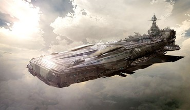 Ships airship skyscapes HD wallpaper