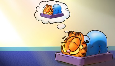 Garfield artwork cats dreams funny HD wallpaper