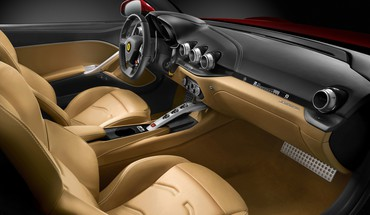 Ferrari interior HD wallpaper