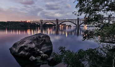 Beautiful bridge at dusk HD wallpaper