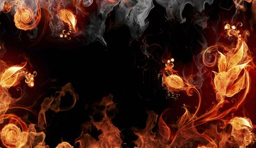 Fire smoke plants photomanipulation burning HD wallpaper