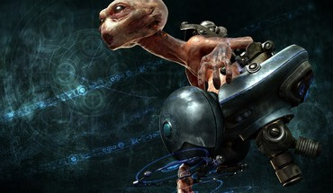 3d alien ovni graphics HD wallpaper