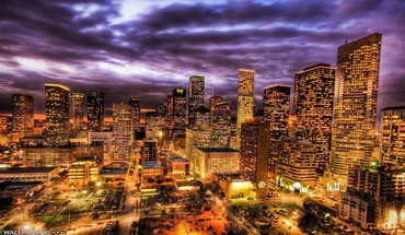 A million lights in the city hdr HD wallpaper