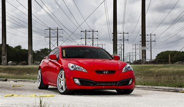 Red automobiliai Hyundai Genesis Coupe  HD wallpaper