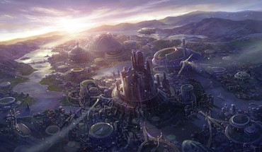 Artwork cityscapes fans fantasy art HD wallpaper