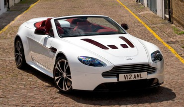 Convertible white aston martin v12 vantage rs HD wallpaper