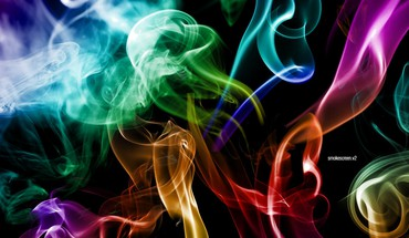Smoke imagine colors HD wallpaper