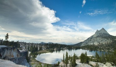 Upper cathedral lake HD wallpaper