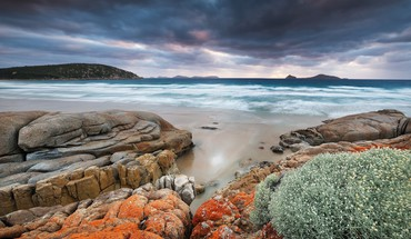 Coast rocks australia hdr photography skies beach HD wallpaper