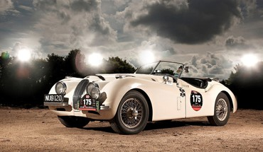 Jaguar XK120 automobiliai rodsteris  HD wallpaper