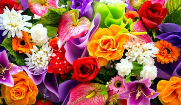 Colorful bouquet HD wallpaper