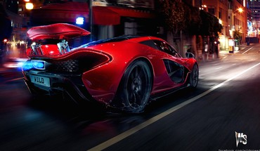 Red concept art mclaren p1 HD wallpaper