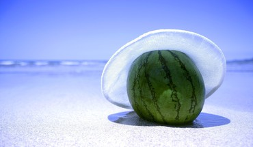 Beaches tropical watermelons HD wallpaper