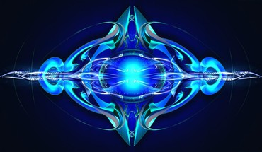 Blue abstract art HD wallpaper