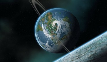 Ringed earth HD wallpaper