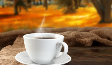 Autumn coffee HD wallpaper