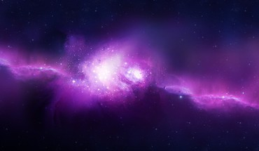Purple space HD wallpaper