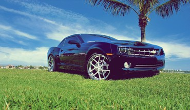 Cars grass chevrolet vehicles camaro ss HD wallpaper