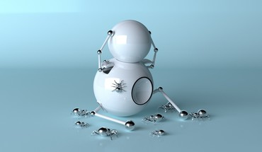 Funny robots spiders HD wallpaper