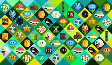 Checkered artwork objects squares retro symbols boo HD wallpaper