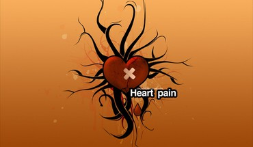 Abstract love yellow orange funny pain HD wallpaper