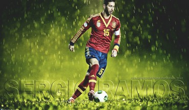 Sergio ramos spain HD wallpaper